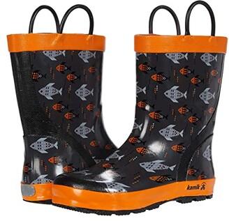 Kamik Fishride (Infant/Toddler/Little Kid) (Charcoal Orange/Charbon Orange) Boy's Shoes