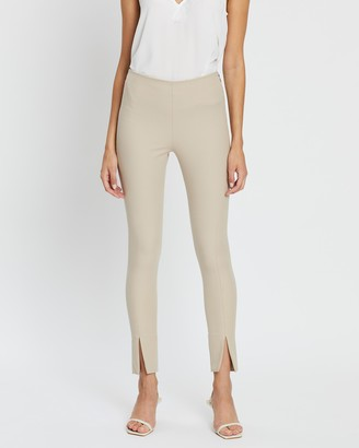 French Connection Skinny Split Front Trousers