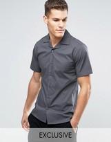 ONLY & SONS Skinny Short Sleeve Revere Collar Smart Shirt