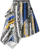 Versus ruffled striped skirt