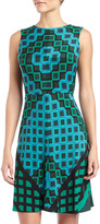 Donna Morgan Geometric-Print Sleeveless Dress, Teal