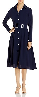 Lee Edeline Belted Long-Sleeve Shirt Dress