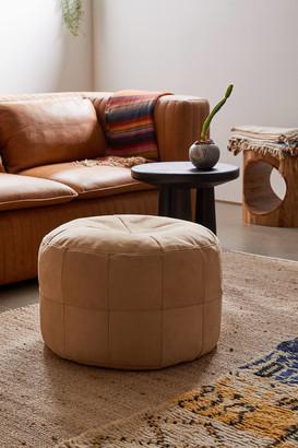 Mesa Patchwork Leather Ottoman