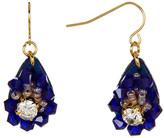 Carolee Beaded Pave Flower Drop Earrings