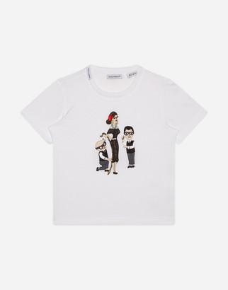 """Dolce & Gabbana Jersey Family"""" T-Shirt"""