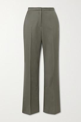 LVIR Wool-twill Straight-leg Pants - Gray