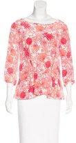 Thakoon Floral Print Silk Top