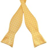 Pense'e PenSee Mens Self Bow Tie Jacquard Woven Silk Bow Ties