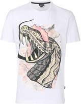 Just Cavalli snake print T-shirt