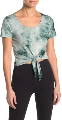 Electric Yoga Tie Dye Tie Hem Top