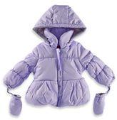 London Fog Size 12M Puff Coat in Lilac