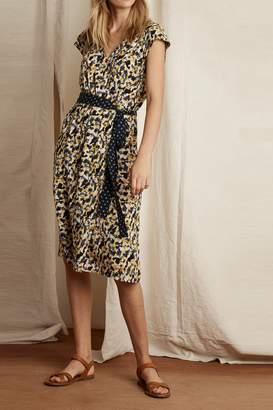Velvet by Graham & Spencer Floral Print Contrast Belt Dress