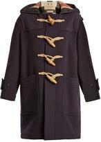 Burberry Greenwich hooded wool-blend coat