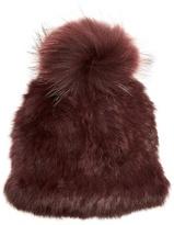 Yves Salomon Pompom-embellished mink and rabbit-fur hat