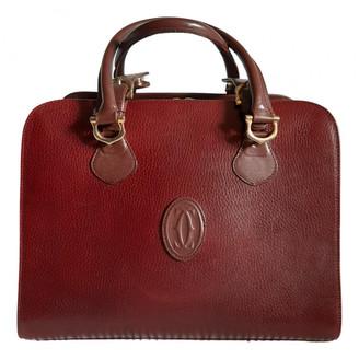 Cartier Burgundy Leather Handbags