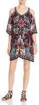 Aqua Floral Swirl Cold Shoulder Dress - 100% Exclusive