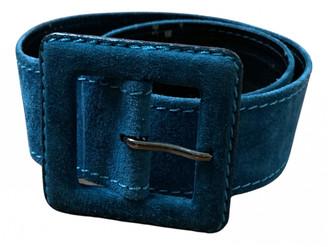 Saint Laurent Blue Suede Belts