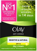 Olay Anti-Wrinkle Sensitive & Natural Gentle Moisturiser Day Cream SPF15 50ml