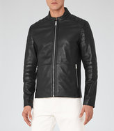 Reiss New Collection Hatchet Quilted Leather Jacket