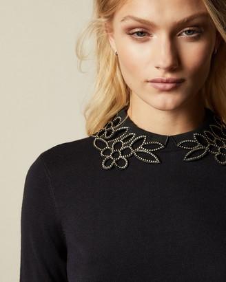 Ted Baker AZALEO Embellished neckline jumper