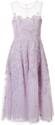ZUHAIR MURAD Floral-Embellished Tulle Dress