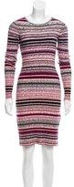 Tanya Taylor Striped Rib Knit Dress
