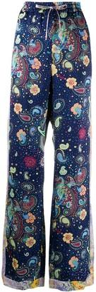 M Missoni Paisley-Print Drawstring Trousers