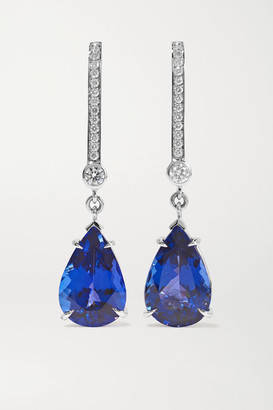 ara Vartanian - 18-karat White Gold, Tanzanite And Diamond Earrings