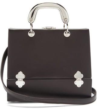 Rodo Sixty Six Small Leather & Metal Box Bag - Black