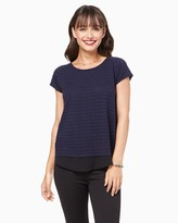 Charming charlie Striped Burnout Tee