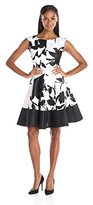 Julian Taylor Women's Cap-Sleeve Printed A-Line Dress