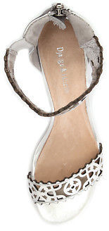 Django & Juliette New Revoke Silver Womens Shoes Dress Sandals Heeled