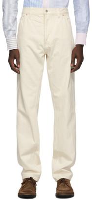 Drakes Off-White Selvedge Denim Jeans