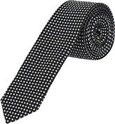 Oxford Silk Tie Checks Blk/Gry X