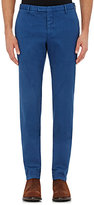 Boglioli Men's Stretch-Cotton Straight Leg Trousers-BLUE