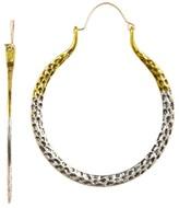 Natasha Accessories 38mm Jessi Two-Tone Hoop Earrings