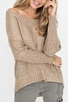 2 Chic Gold Shimmer Sweater