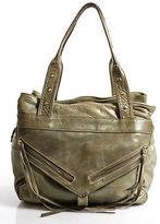 Botkier Beige Leather Shimmer Unstructured Gold Tone Small Shoulder Trigger Bag
