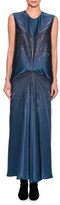 Stella McCartney Graziella Embellished Starburst Sleeveless Dress, Blue