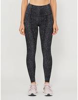 Varley Luna snake-print high-rise stretch-jersey leggings