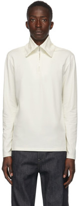 Jil Sander Off-White Half-Zip Sweater