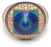 Francesca Villa You Spin Me Around Diamond & Lapis Ring - Womens - Blue