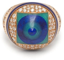 Francesca Villa You Spin Me Around Diamond & Lapis Ring - Blue
