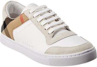 Burberry Suede & Leather House Check Sneaker