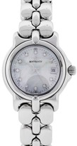 Berto Lucci Bertolucci Vir Stainless Steel Mother of Pearl Diamond Dial Womens Watch