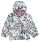 Patagonia Toddler Girl's 'Puff-Ball' Water Resistant Reversible Hooded Jacket