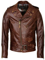 Schott NYC Fitted Waxy Cowhide Motorcycle Jacket