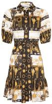 Hayley Menzies - Mini Shirt Dress with Sash in Black / White - xs
