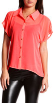 Cold-Shoulder Neon Blouse