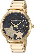 Michael Kors Women's 'Portia' Quartz Stainless Steel Casual Watch, Color:-Toned (Model: MK3794)